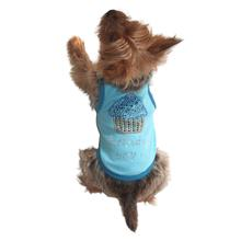 Birthday Boy Cupcake Rhinestone Dog Tank - Blue