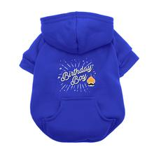Birthday Boy Dog Hoodie - Blue