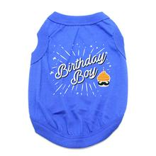 Birthday Boy Dog Shirt - Blue