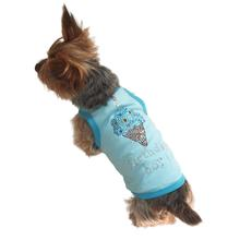 Birthday Boy Ice Cream Cone Rhinestone Dog Tank - Blue