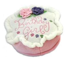 Birthday Girl Cake Plush Dog Toy