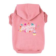 Birthday Girl Dog Hoodie - Light Pink