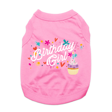 Birthday Girl Dog Shirt - Light Pink