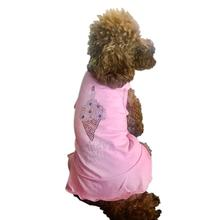 Birthday Girl Ice Cream Cone Rhinestone Dog Tank Dress - Bubblegum Pink