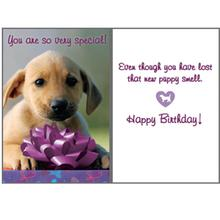 Birthday Greeting Card by Dog Speak - New Puppy Smell