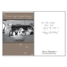 Birthday Greeting Card by Dog Speak - No Road Is Long