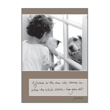 Birthday Greeting Card by Dog Speak - A Friend Is The One