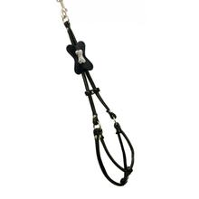 Black Bone Step In Dog Harness by Hip Doggie