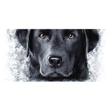 Black Lab Face Ceramic Mug by The Mountain