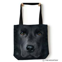 Black Lab Face Tote Bag by The Mountain