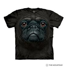 Black Pug Face Human T-Shirt by The Mountain