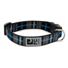 Black Twill Plaid Adjustable Clip Dog Collar By RC Pets