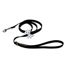 Black & White Polka Dot Nouveau Bow Dog Leash by Susan Lanci - Black