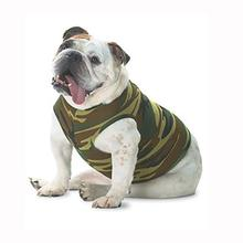 Blank Ribbed Dog Tank - Green Camo