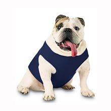 Blank Ribbed Dog Tank - Navy