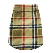 Blanket Plaid Dog Pullover - Camel