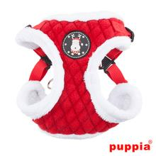 Blitzen Adjustable Step-In Dog Harness by Puppia - Red