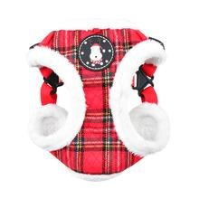 Blitzen Adjustable Step-In Dog Harness by Puppia - Red Plaid