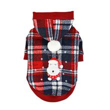 Blitzen Hooded Dog Shirt by Puppia - Checkered Red