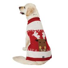 Blitzen's Sparkle Reindeer Dog Sweater - Red