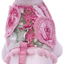 Blossom Dog Harness Vest by Cha-Cha Couture - Pink