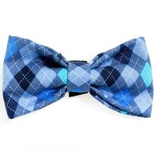 Blue Argyle Dog Bow Tie from Daisy and Lucy