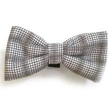 Brown and White Plaid Dog Bow Tie from Daisy and Lucy