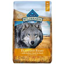 Blue Buffalo Wilderness Flatland Feast Grain Free Dog Food - Turkey, Quail & Duck