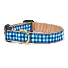 Navy Gingham Dog Collar by Up Country