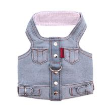 Blue Jean Jacket Denim Vest Dog Harness by Doggles