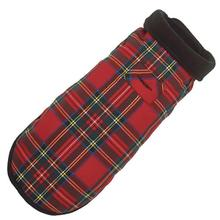 Red Plaid Fleece-Lined Dog Coat by Up Country