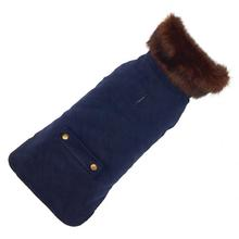 Blue Velvet Dog Coat by Up Country