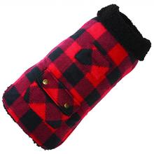 Buffalo Check Fleece Dog Coat by Up Country