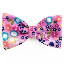Garden Flowers Dog Bow Tie from Daisy and Lucy
