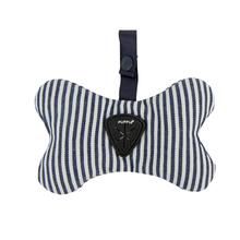 Bobby Dog Waste Bag Dispenser by Puppia - Striped Navy