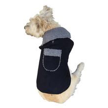 Boho Faux Suede Shearling Dog Coat - Black