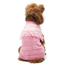Boho Fringe Dog Sweater by Dogo - Pink
