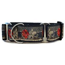 Dakota Rose Wide Martingale Dog Collar by Diva Dog