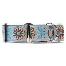 Boho Morocco Wide Martingale Dog Collar by Diva Dog