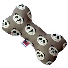Bone Dog Toy - Grey Pandas