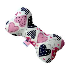 Bone Dog Toy - Mixed Hearts