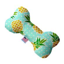 Bone Dog Toy - Pineapples and Polka Dots