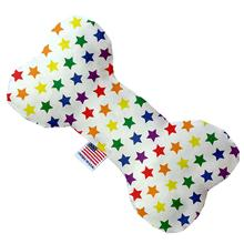 Bone Dog Toy - Rainbow Stars