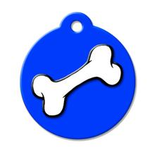 Bone QR Code Pet ID Tag by BarkCode - Blue