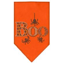 Boo Rhinestone Dog Bandana - Orange