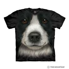 Border Collie Face Human T-Shirt by The Mountain