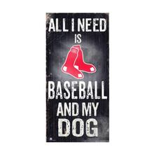 Boston Red Sox Baseball and My Dog Wood Sign