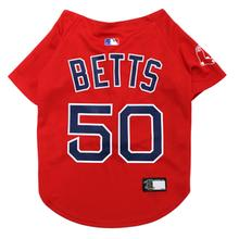 Boston Red Sox Mookie Betts Dog Jersey - Red