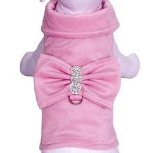 BowWow Bow Dog Harness Jacket with Leash by Cha-Cha Couture - Pink