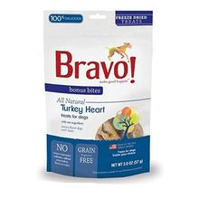 Bravo! Bonus Bites Freeze Dried Dog Treats - Turkey Hearts
